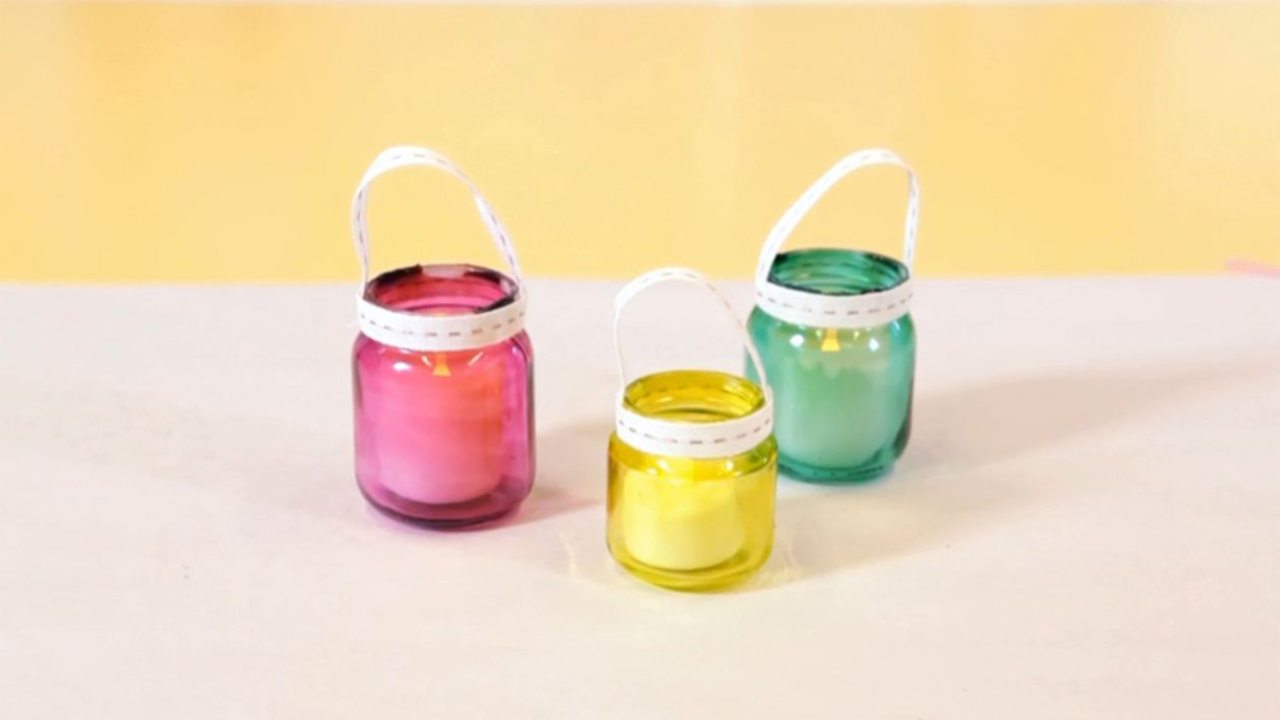 Recycled Baby Food Jars