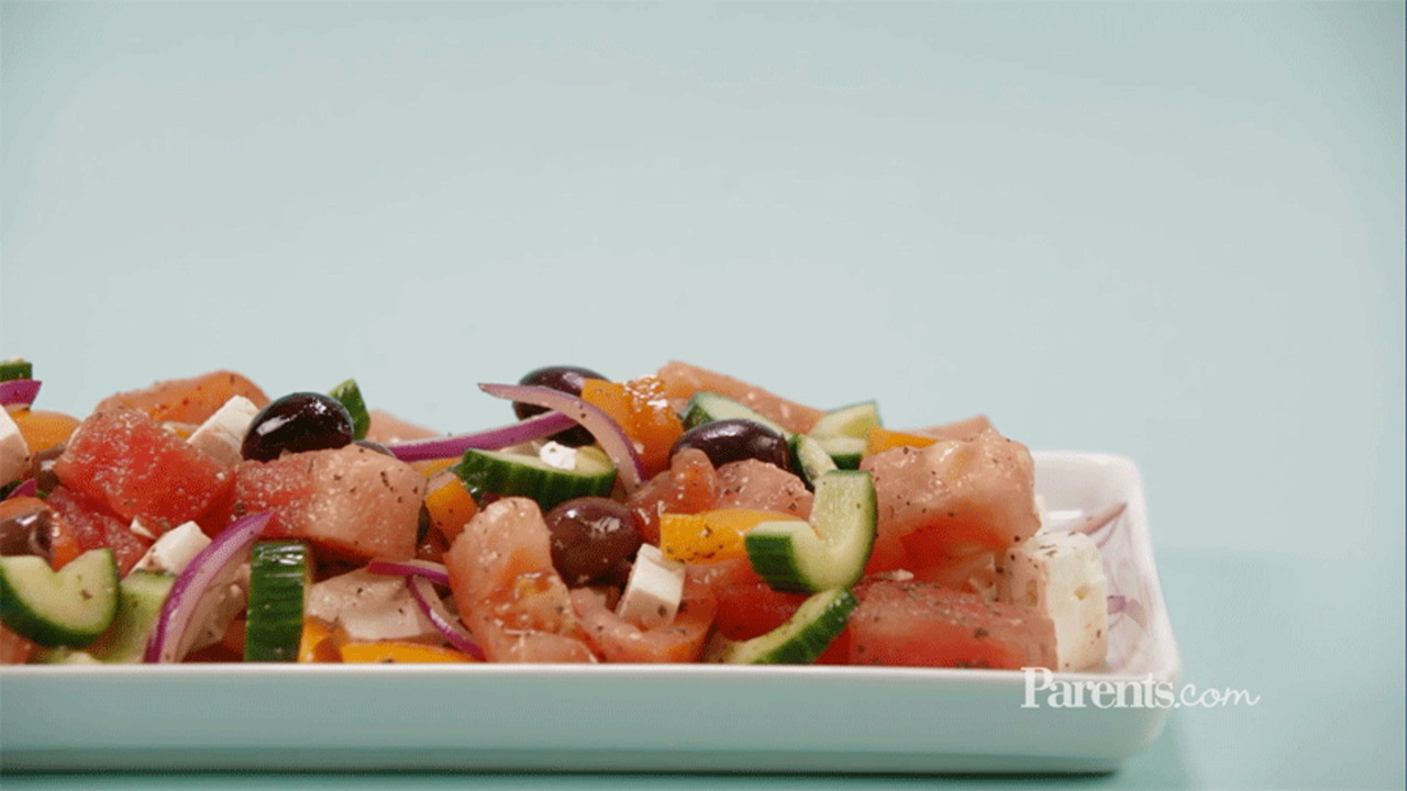 Refreshing Greek Watermelon Salad