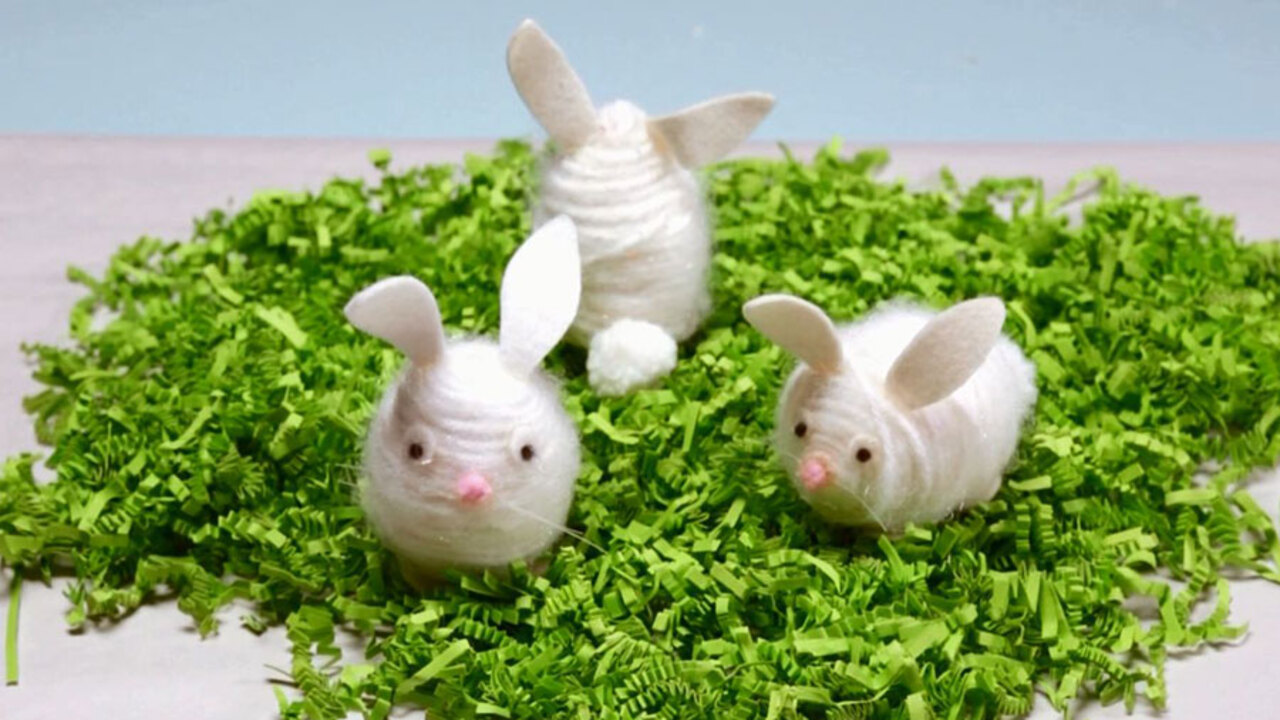 How to Make Fuzzy Bunny Easter Eggs