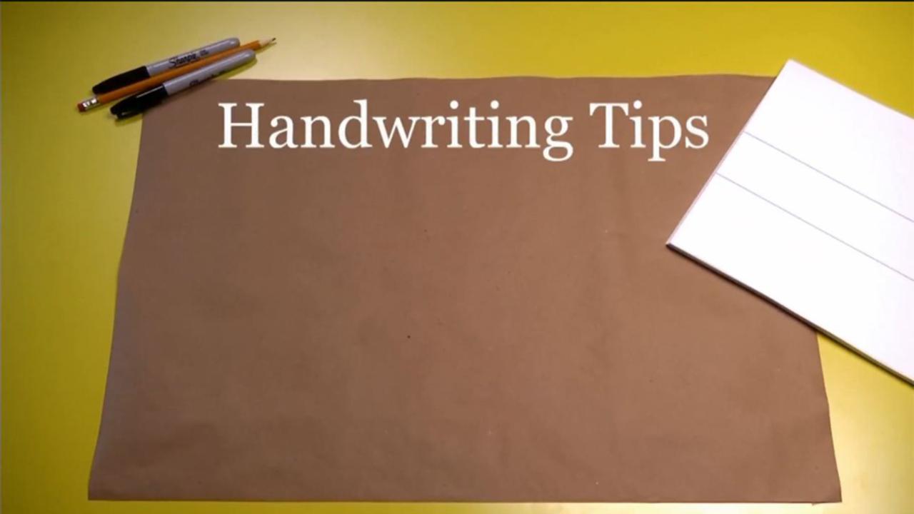 Handwriting: Starter Tips
