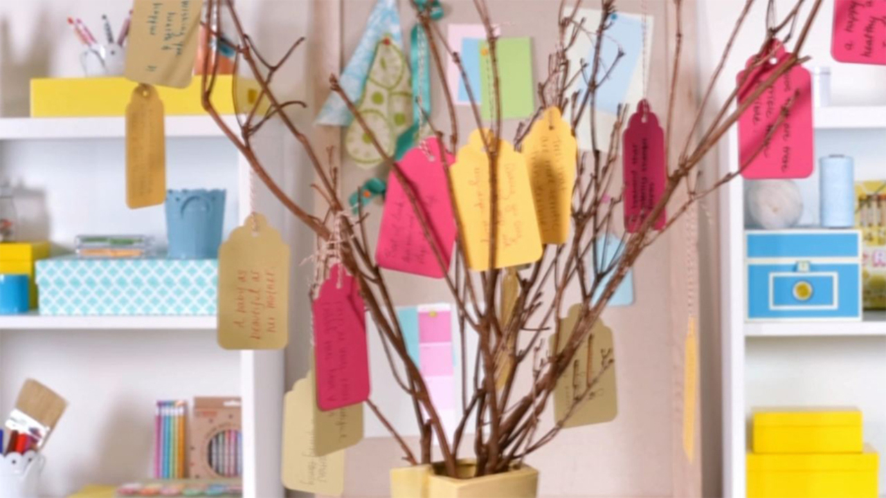 Baby Shower Ideas: How To Make A Wishing Tree