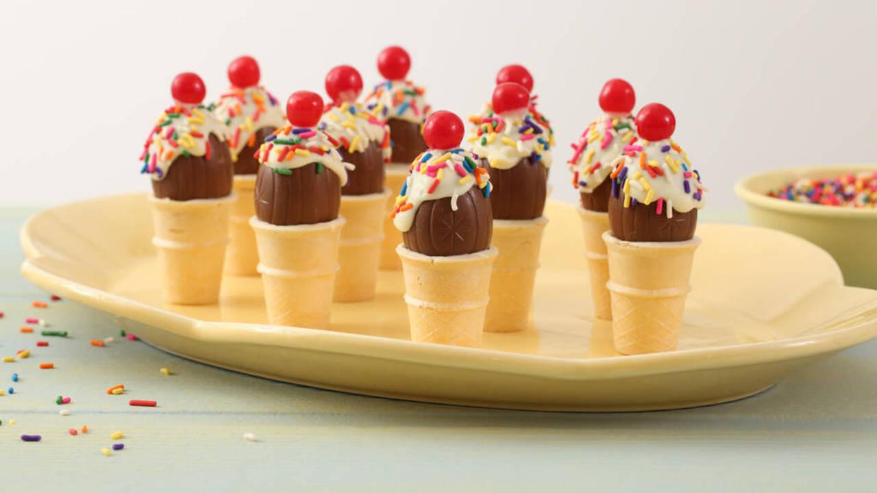 Easter Treats: Egg Cream Cones