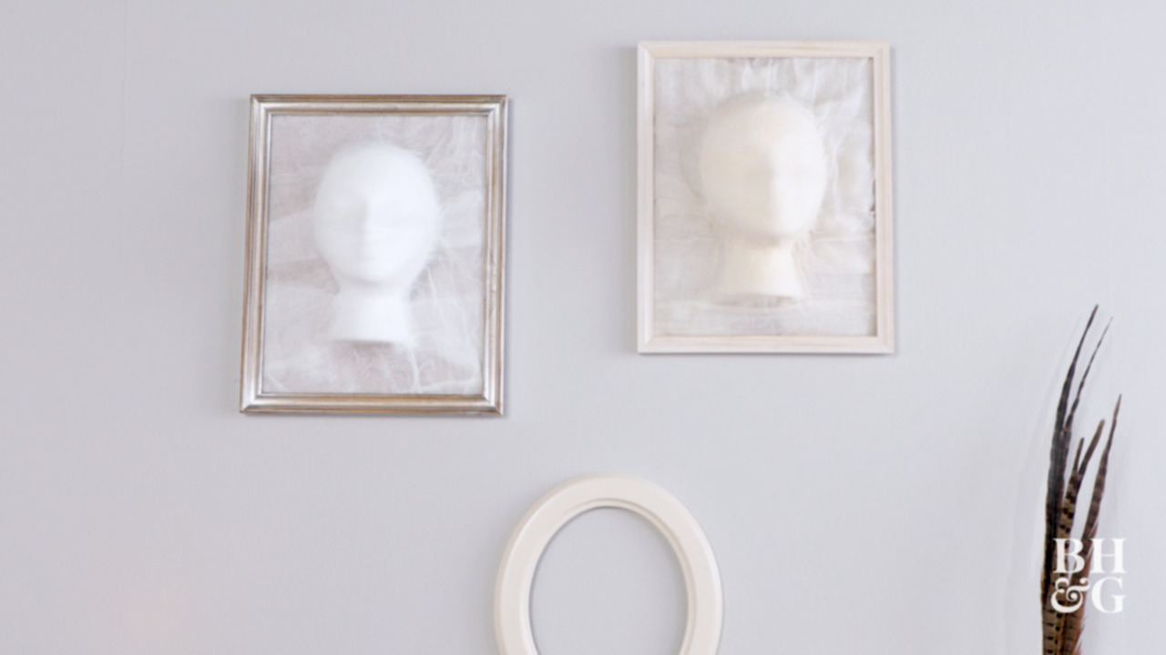 DIY Ghost-Face Frames