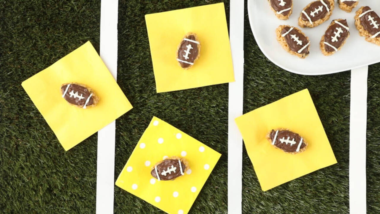 Peanut Butter Chocolate Footballs