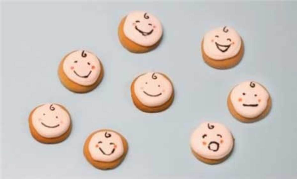 Baby Shower Ideas: How To Make Baby-Face Cookies