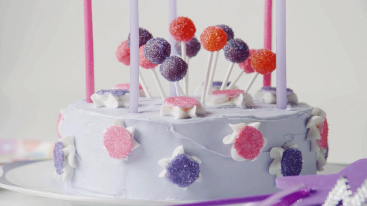 Very Violet Sparkle Cake