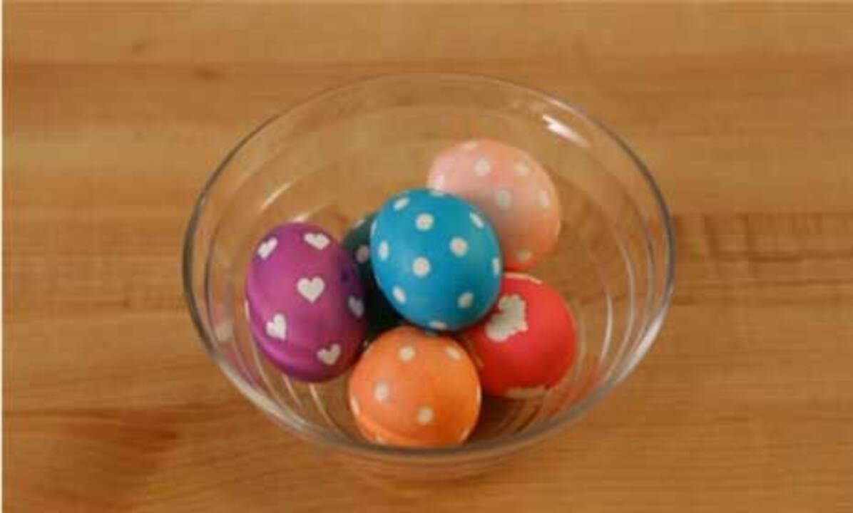Sticker Stencil Easter Eggs