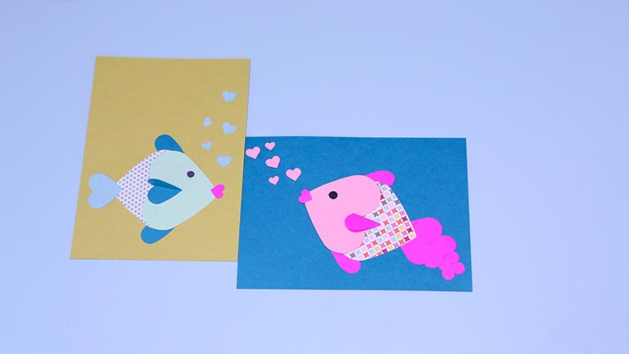 How to Make Kiss-y Fishy Valentines