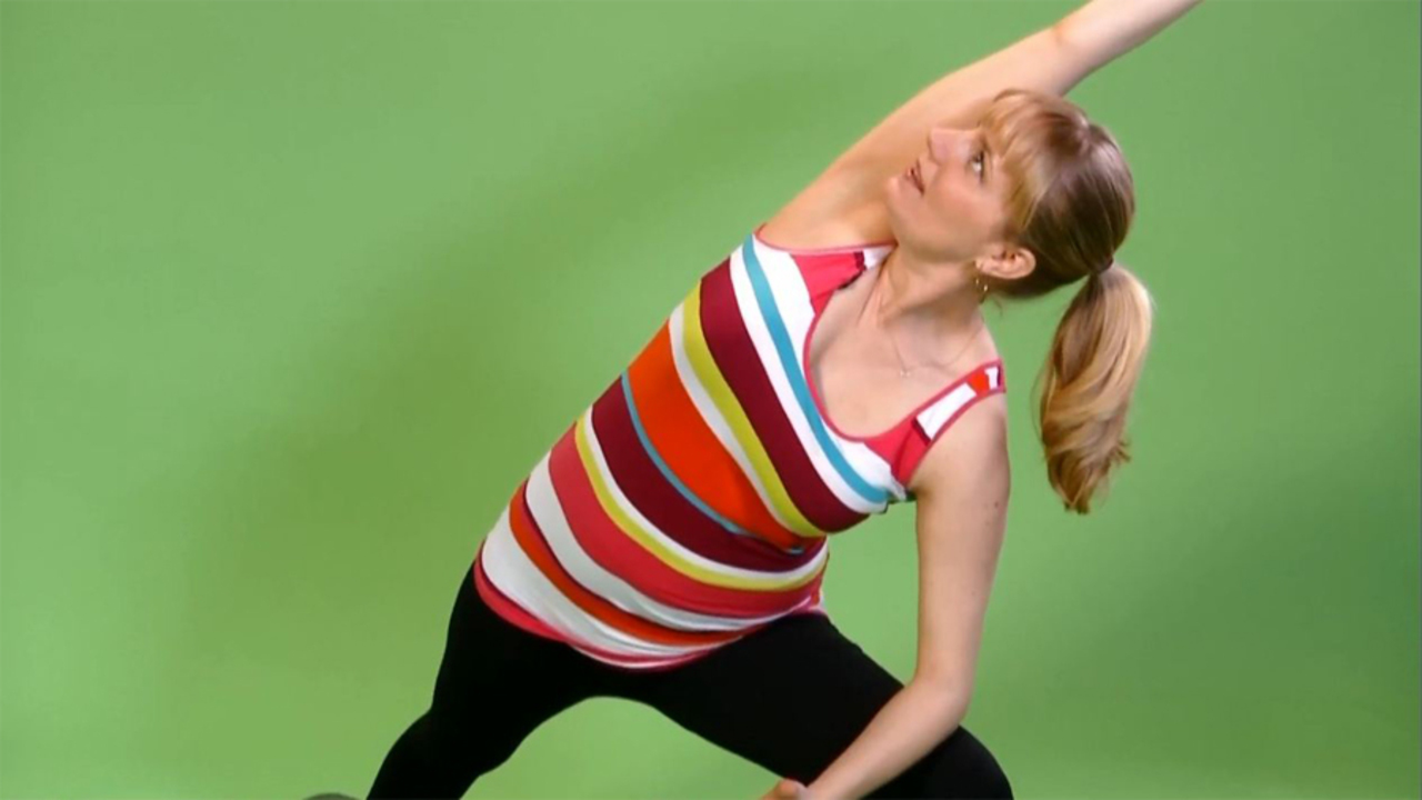 Prenatal Yoga: Extended Side Angle Pose
