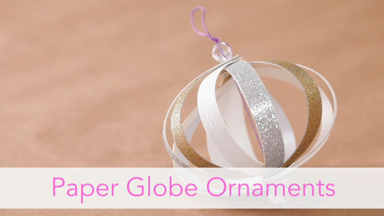 How to Make a Paper Globe Ornament