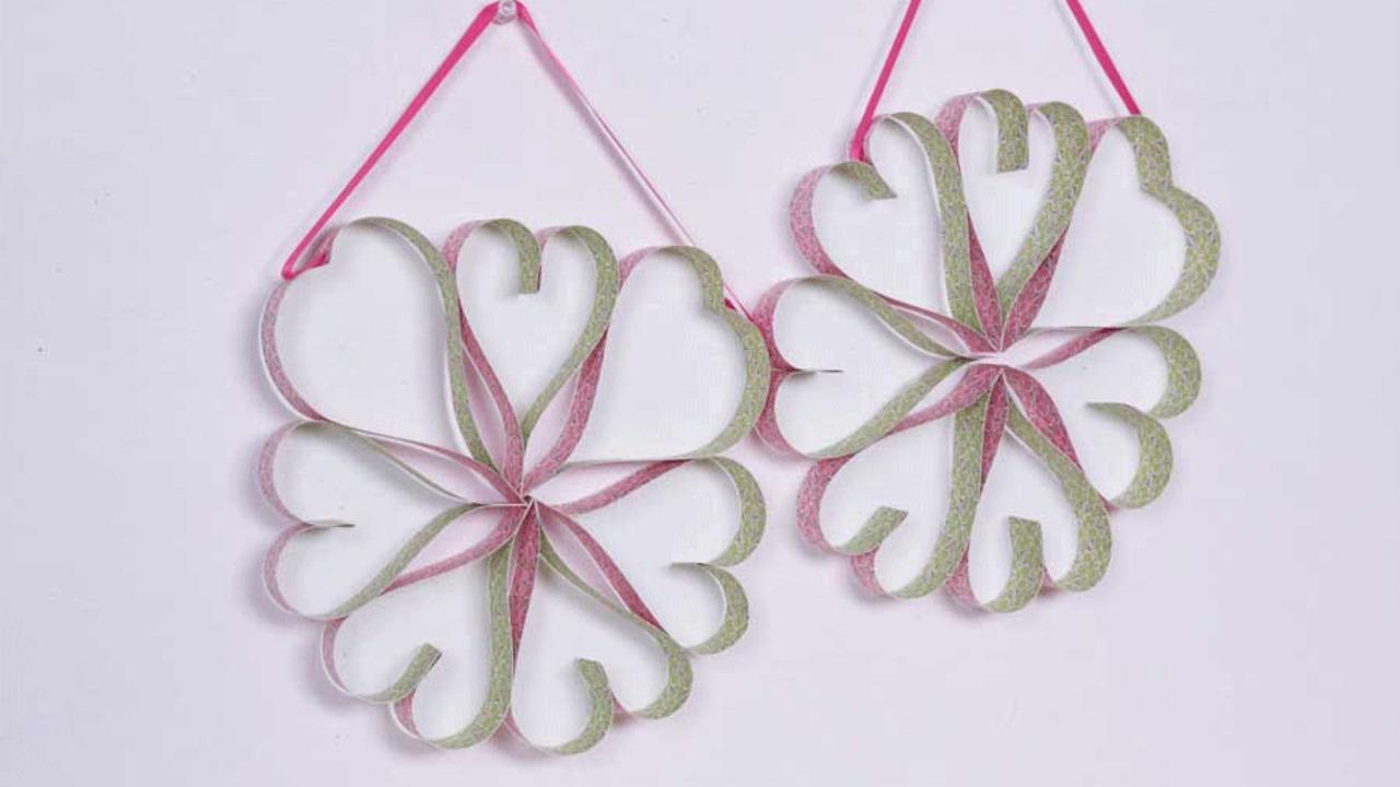 Valentine's Day Heart Wreath Craft