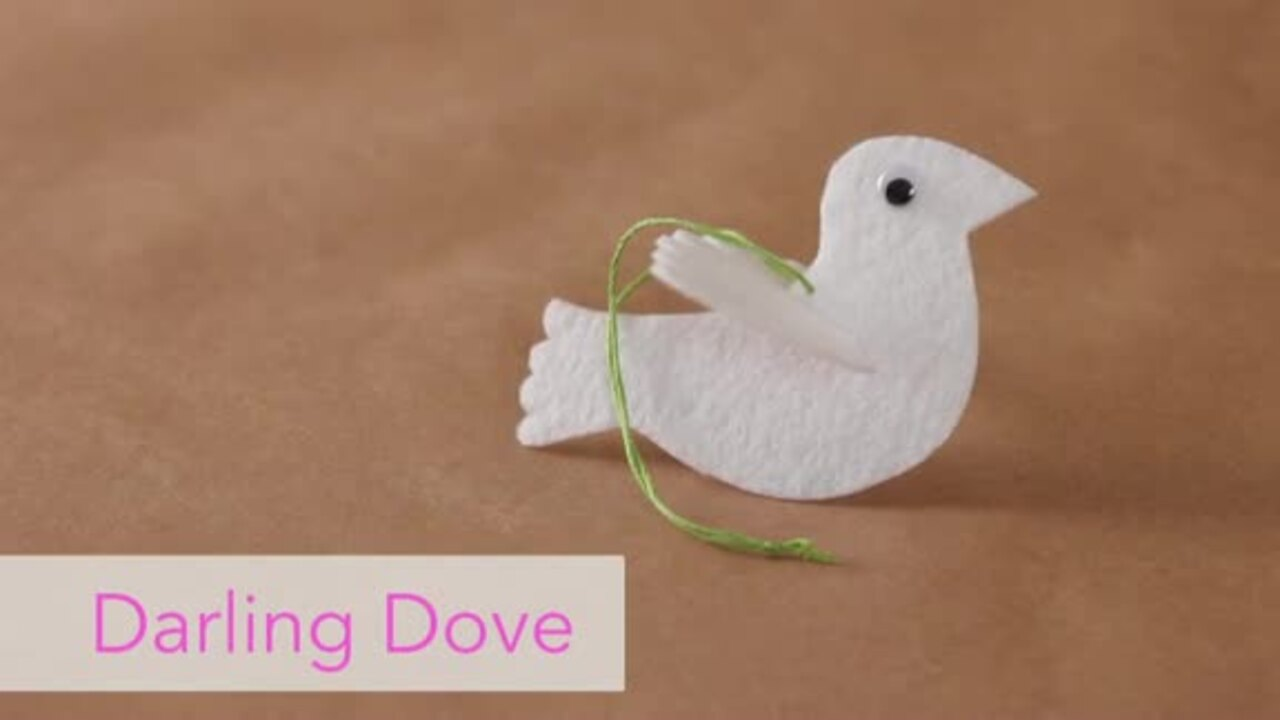 How to Make a Felt Dove Ornament