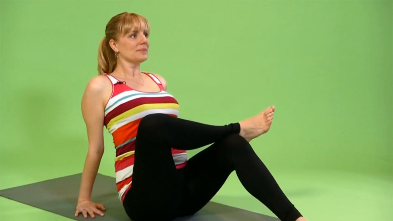 Prenatal Yoga: Seated Ankle-to-Knee Pose