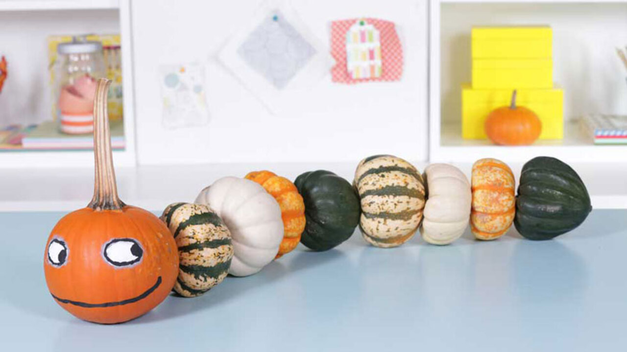 How to Make A Kooky Pumpkin Caterpillar