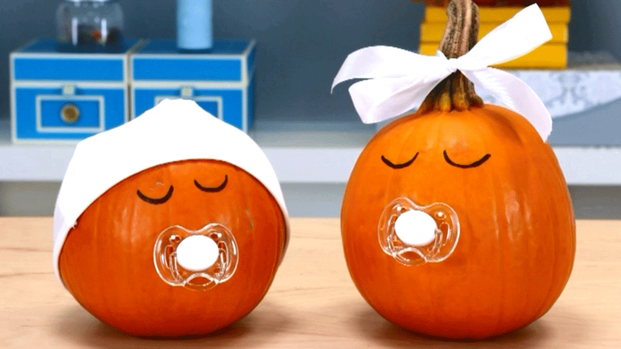 Quick and Easy Pumpkin Craft: Binky Babies