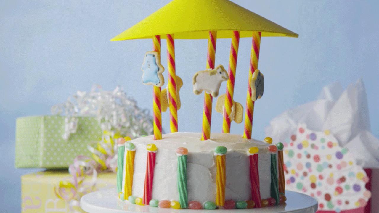 Carousel Birthday Cake