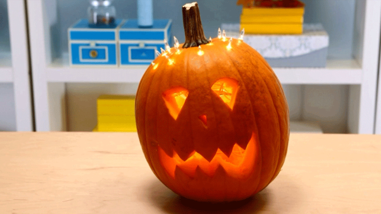Quick and Easy Pumpkin Craft: Light-headed Pumpkin