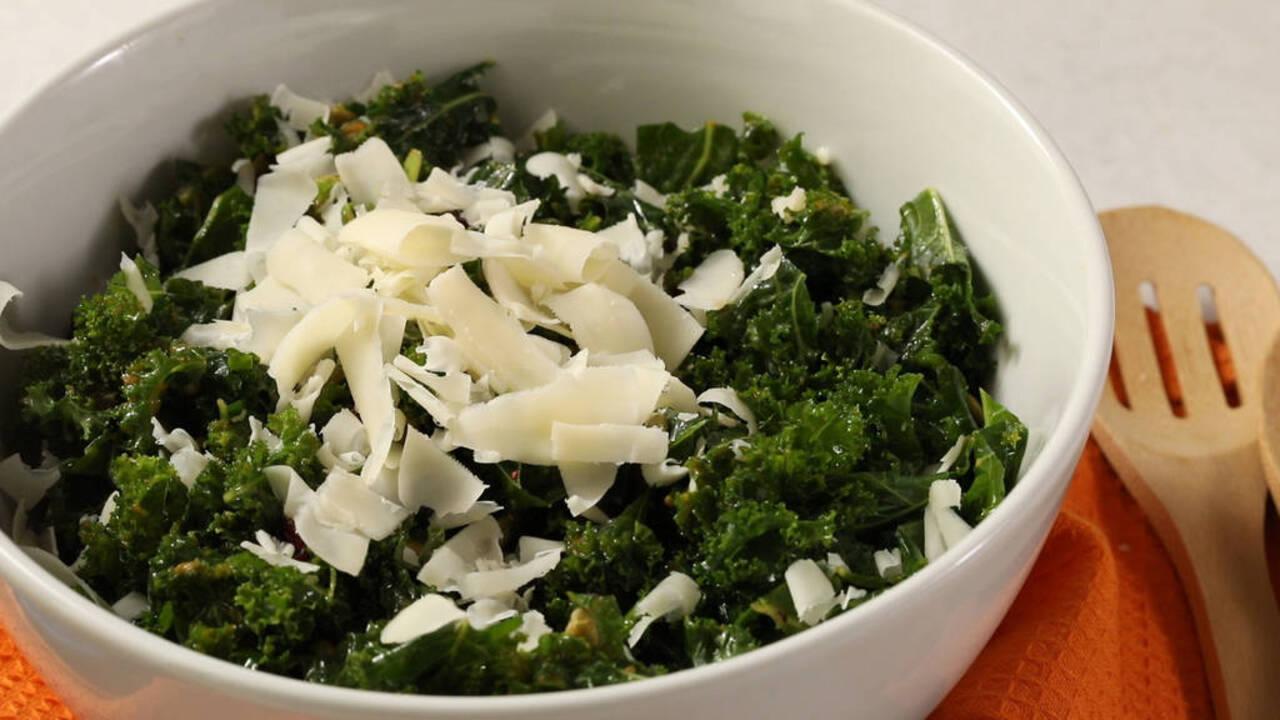 Kale Salad with Pumpkin Vinaigrette