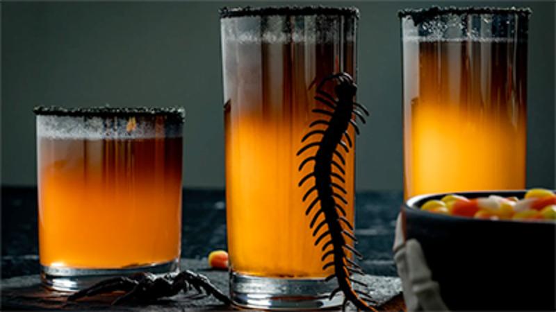 ASMR | Halloween Cocktail Recipe - Hocus Pocus Fizz