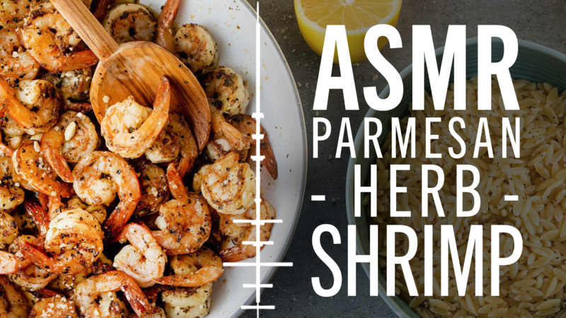 ASMR | How to Make Parmesan Herb Shrimp