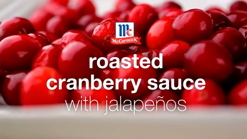 Roasted Cranberry Sauce with Jalapenos