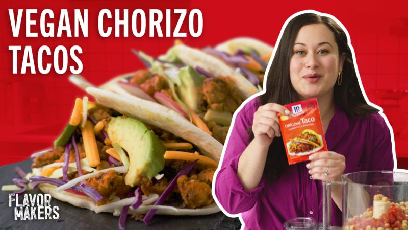 How To Make Vegan Chorizo Tacos With Chickpeas