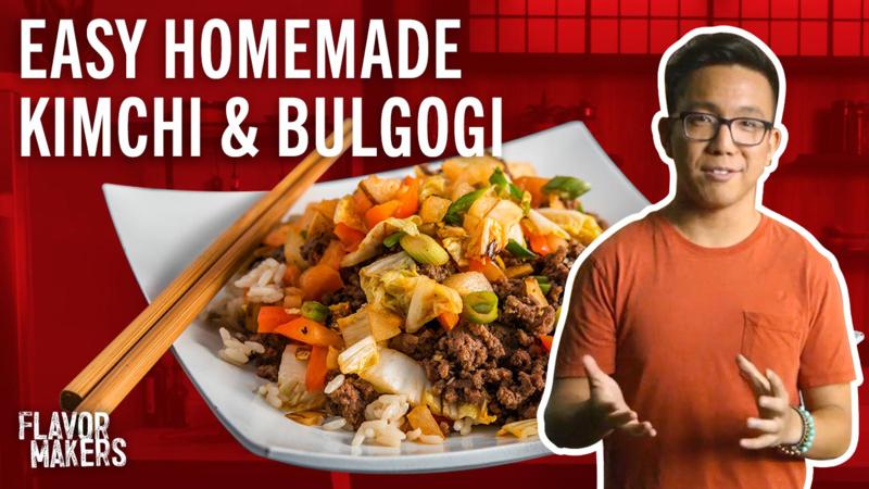 Easy Grilled Kimchi and Bulgogi