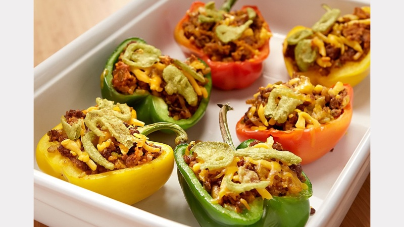 French's Cheeseburger Stuffed Peppers