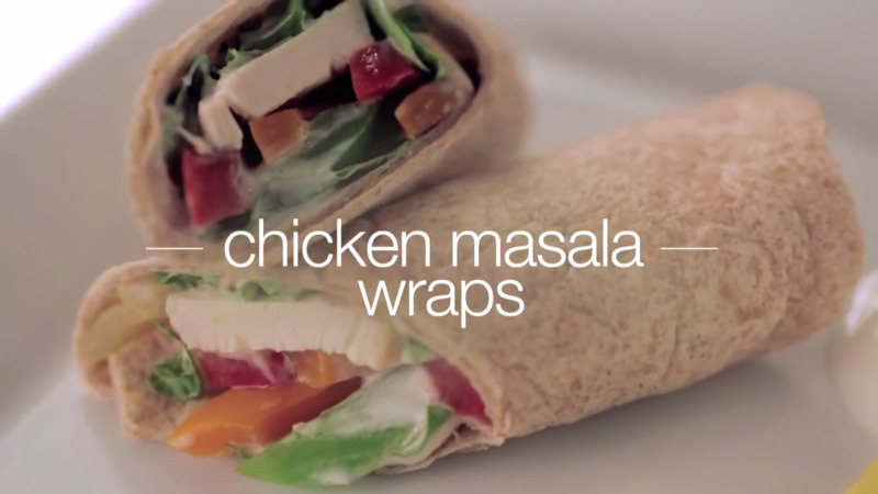 How to Cook Chicken Masala Wraps