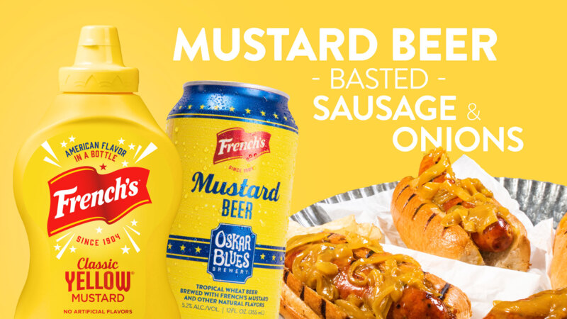How to Make Mustard Beer Basted Sausages & Onions
