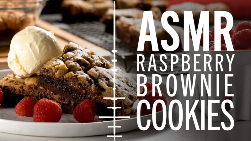 ASMR | How to Make Raspberry Brownie Cookies