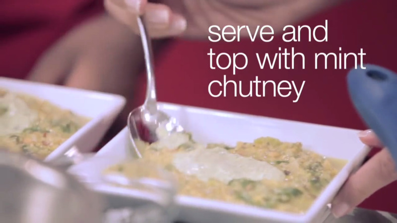 How to Cook Lentil-Spinach Soup with Minty Chutney