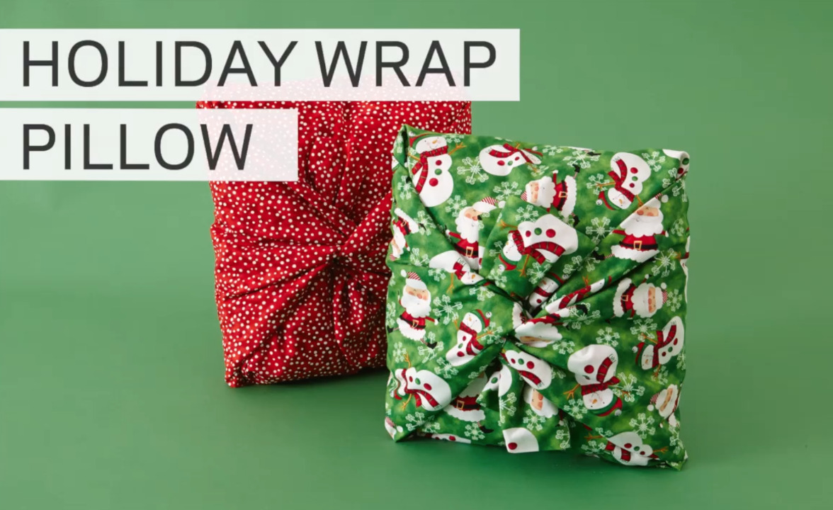 Christmas Pillow Wrap