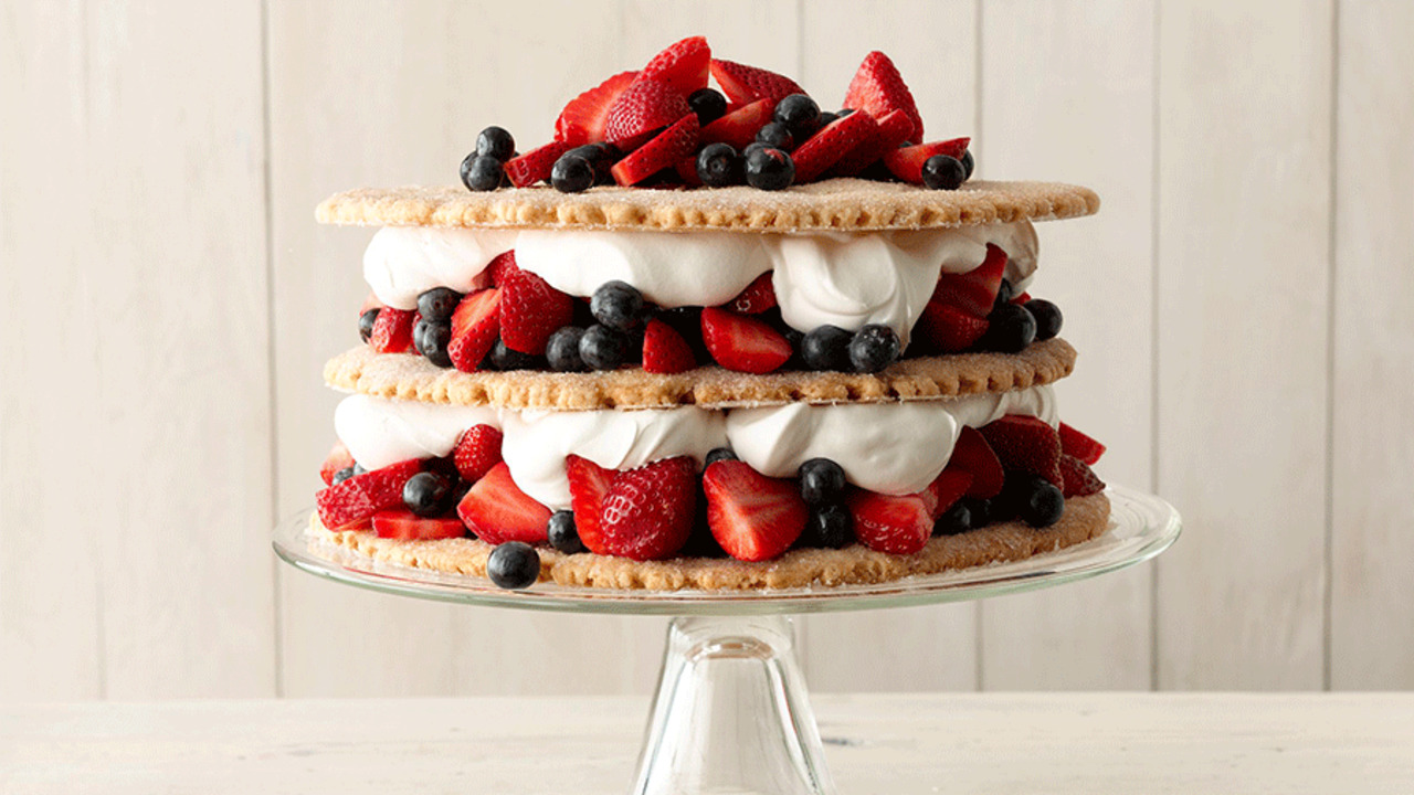 How to Make Blueberry-Strawberry Shortcake