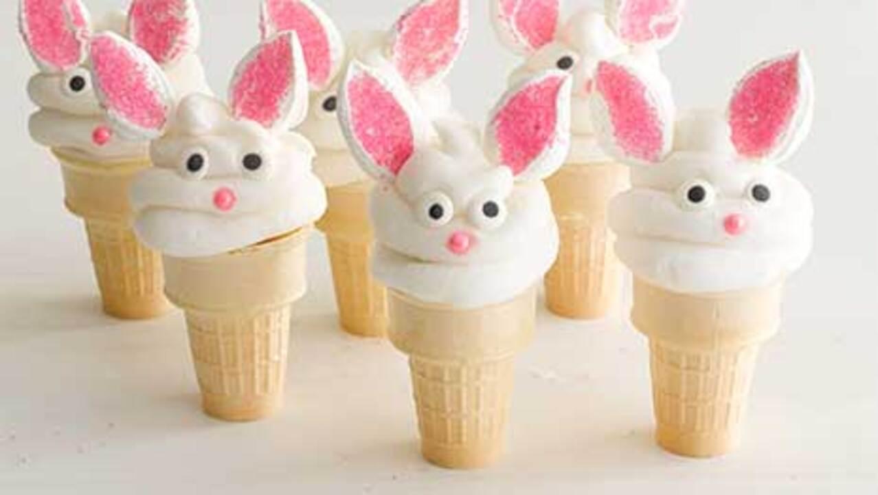 How to Make Bunny Cake Cones