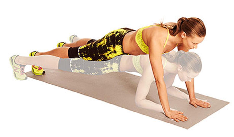 Plank-Straddle Hop
