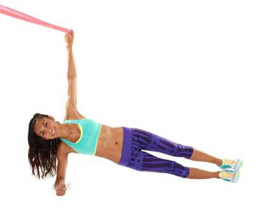 Side Plank Pull-Down