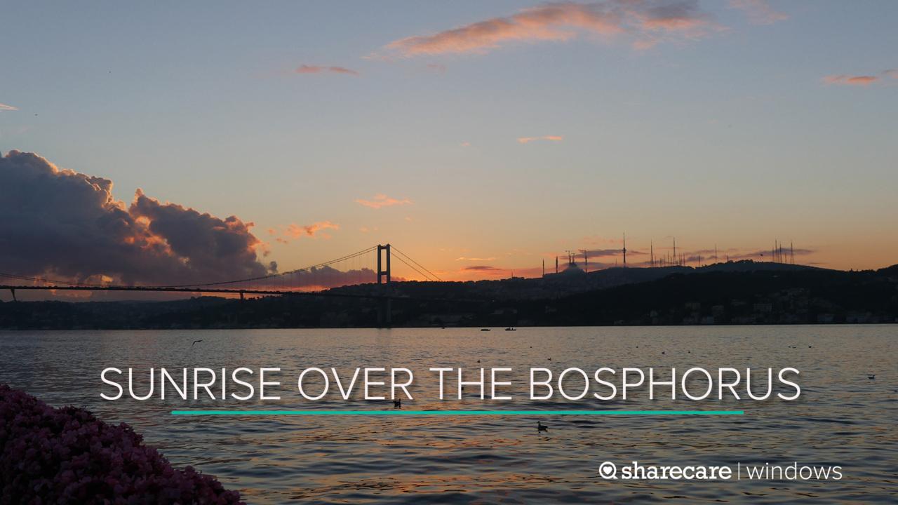 30 Minutes of Sunrise over the Bosphorus Strait