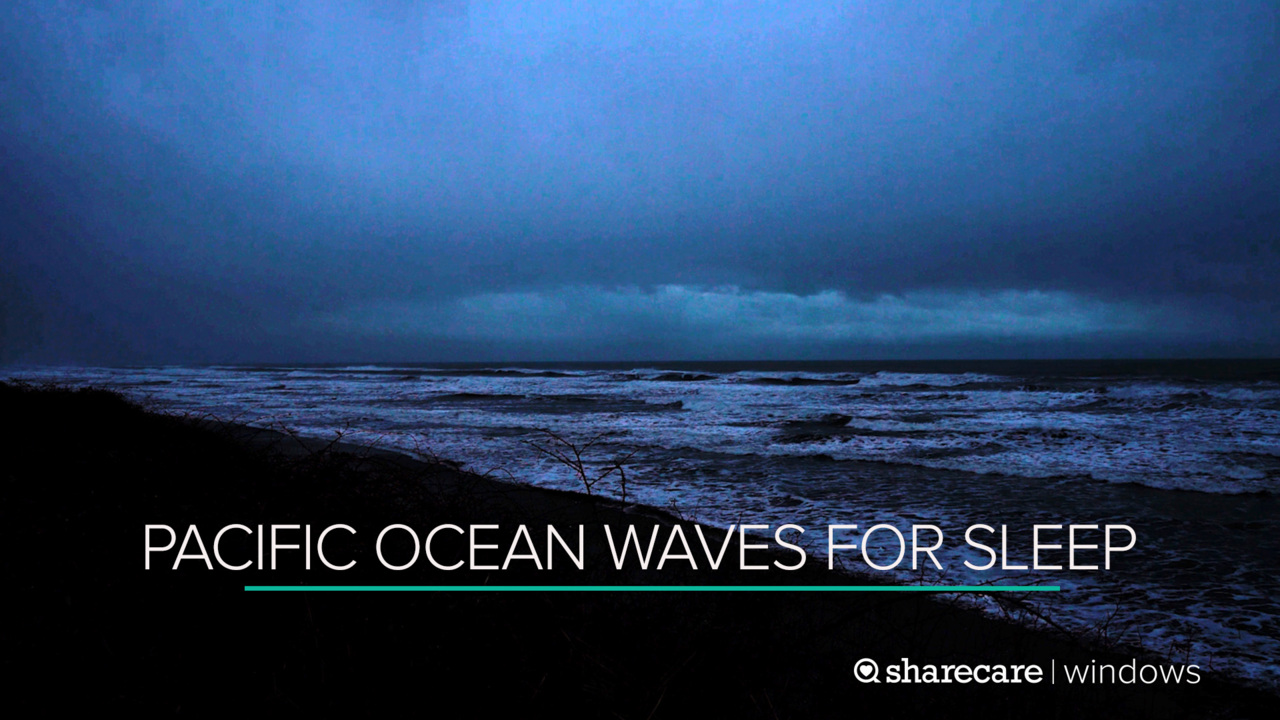 9 Hours of Pacific Ocean Waves for Sleep (Ultra Low Light)