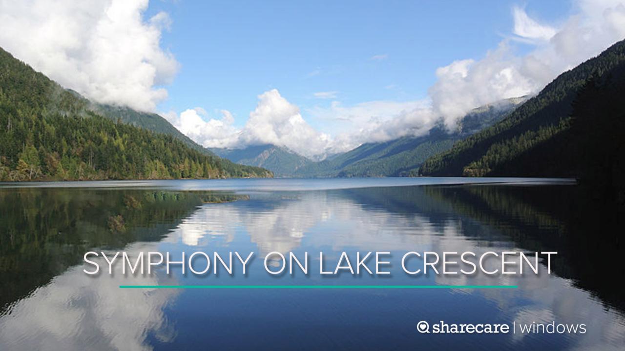 100 Minutes of Symphony on Washington's Lake Crescent
