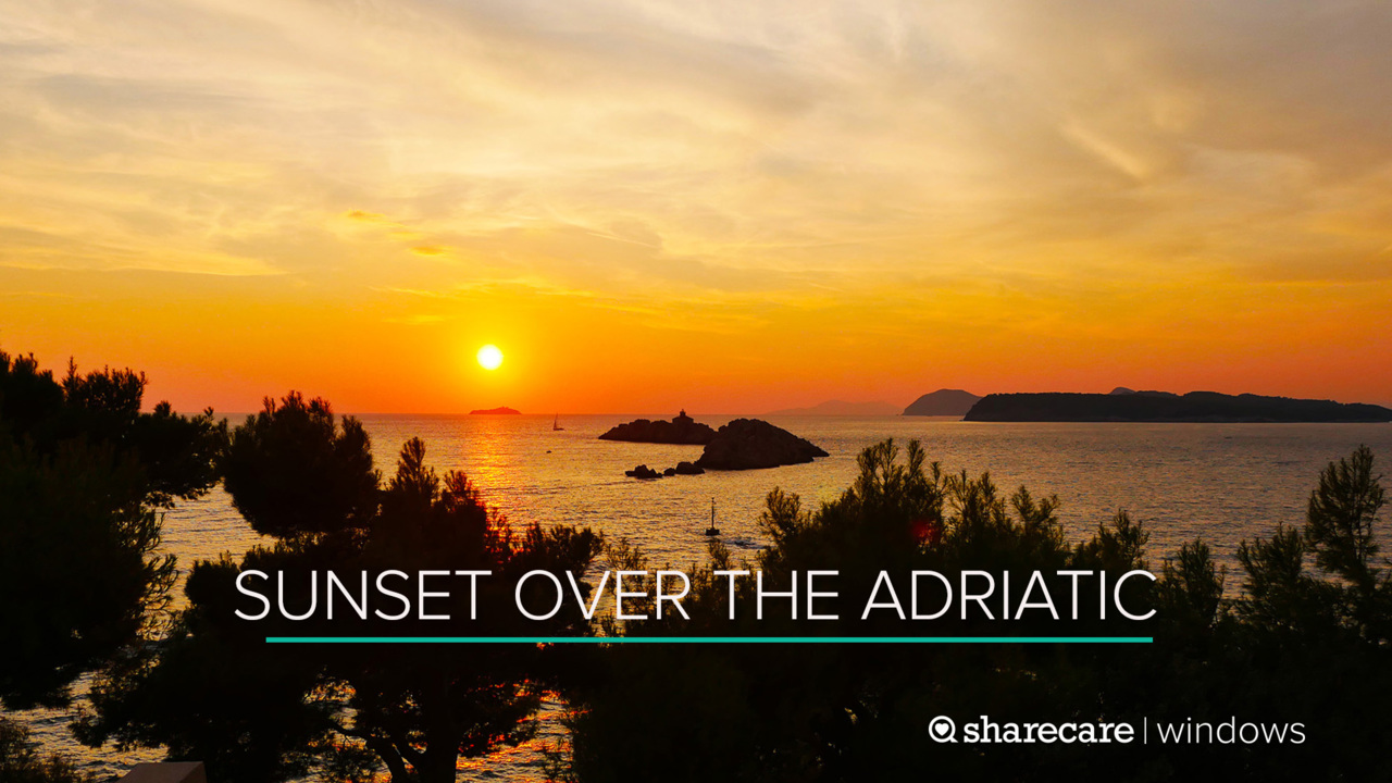 30 Minutes of Breathtaking Sunset Over the Adriatic Sea