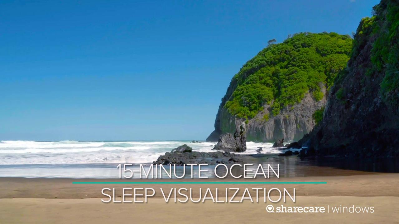 15-Minute Ocean Sleep Visualization