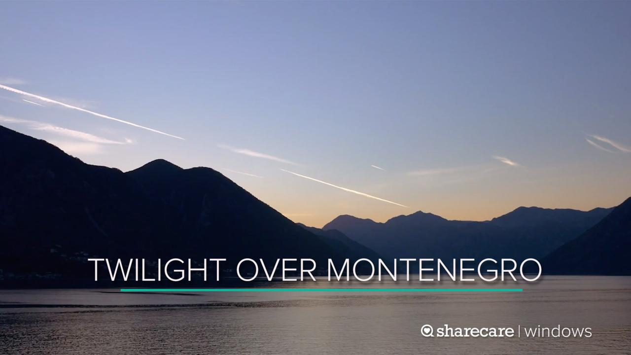 30 Minutes of Twilight Over Montenegro