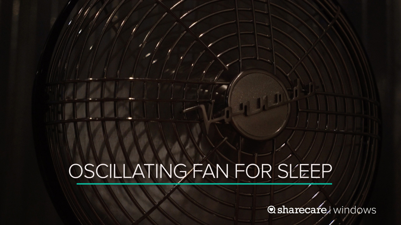 9 Hours of Oscillating Fan for Sleep (Ultra Low Light)
