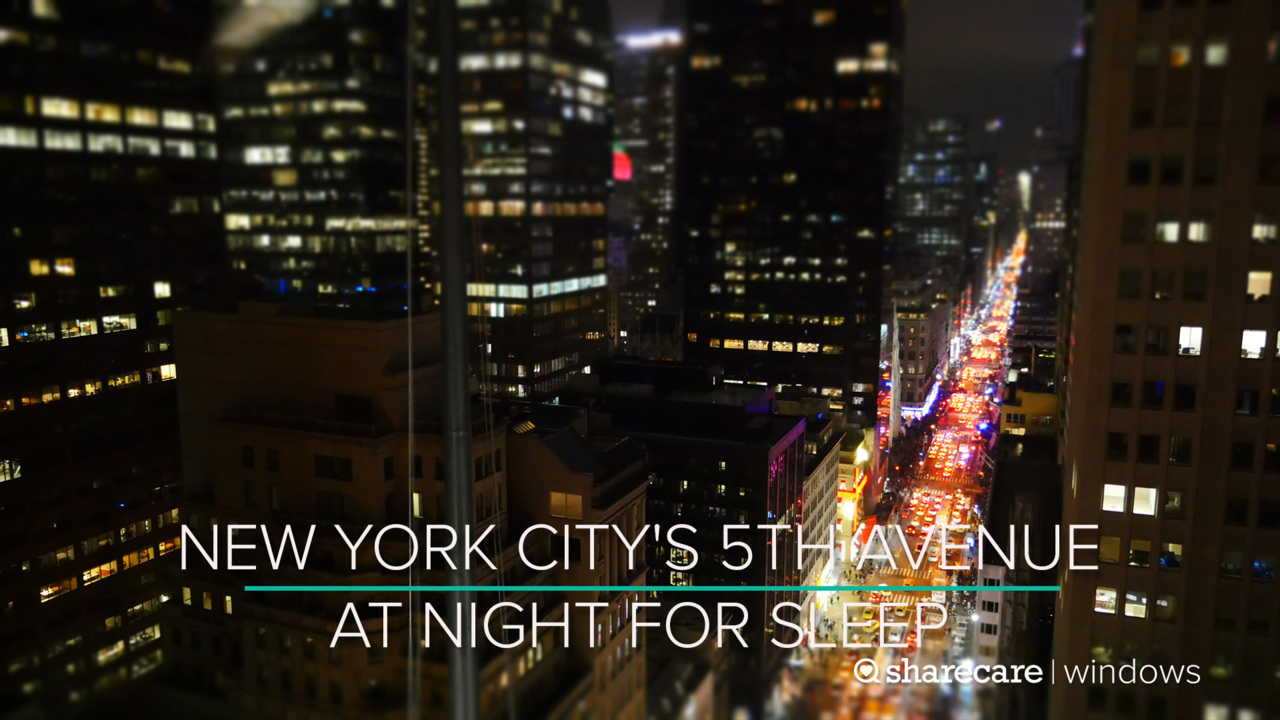 9 Hours of New York City's 5th Avenue at Night for Sleep (Ultra Low Light)