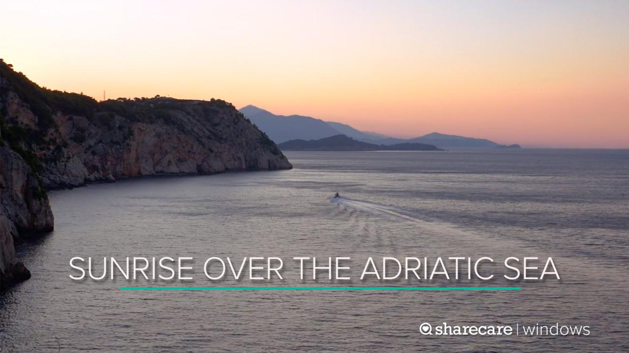 30 Minutes of Sunrise Over the Adriatic Sea