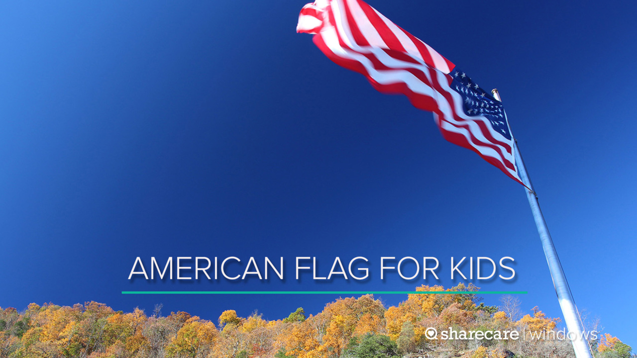 One Hour of the American Flag for Kids