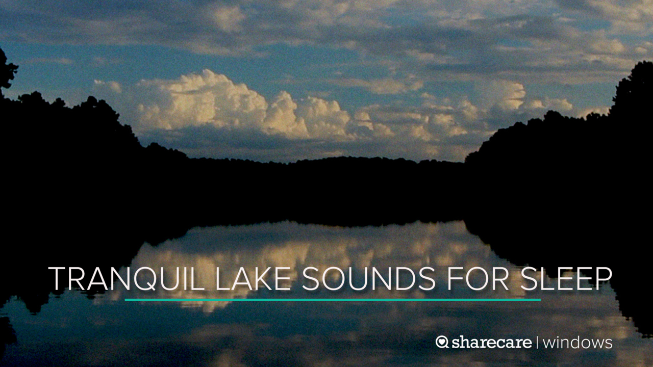 8 Hours of Tranquil Lake Sounds for Sleep (Ultra Low Light)