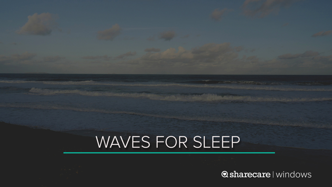 8 Hours of Waves for Sleep (Ultra Low Light)