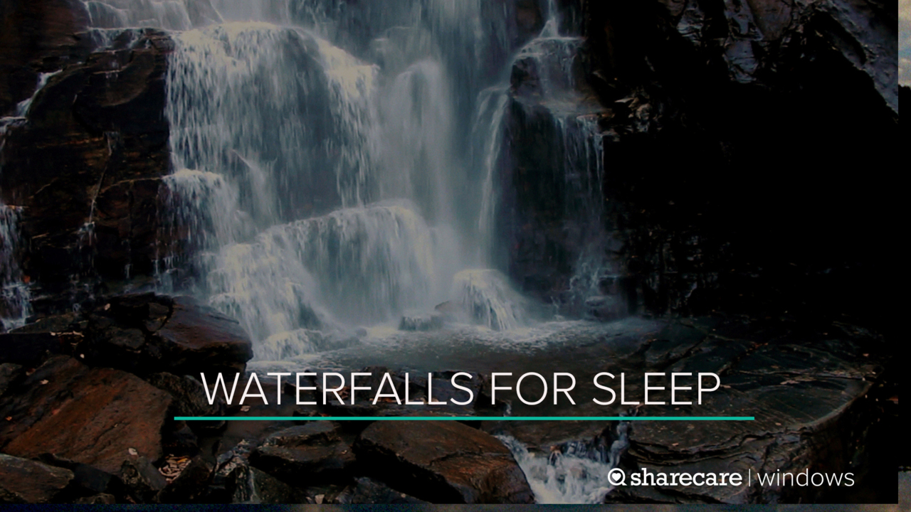 8 Hours of Waterfalls for Sleep (Ultra Low Light)